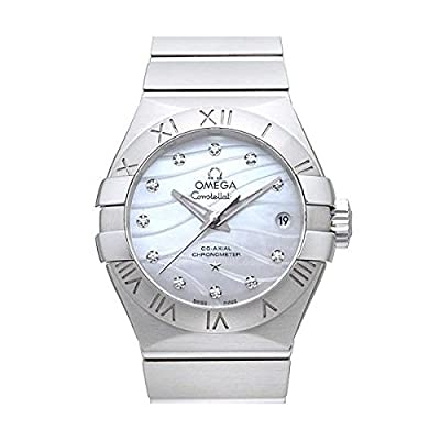 Omega Constellation Co-Axial 27 Women's Automatic Watch with Mother of Pearl Dial Analogue Display and Silver Stainless Steel Bracelet 12310272055002