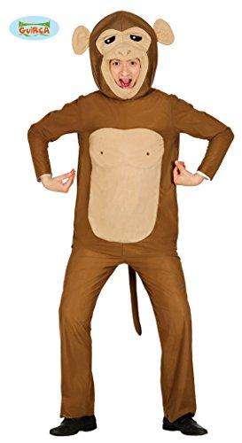 Affen Kostüm für Erwachsene Tierkostüm Herrenkostüm Affe Braun Zoo Tier Gr. M - L, ()