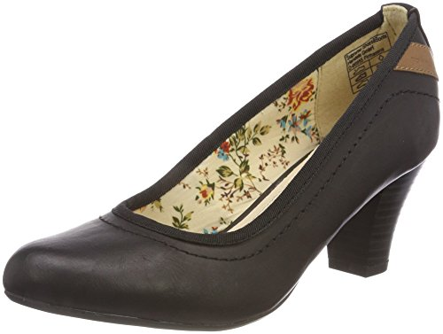 TOM TAILOR Damen 4891201 Pumps, Schwarz (Black), 39 EU