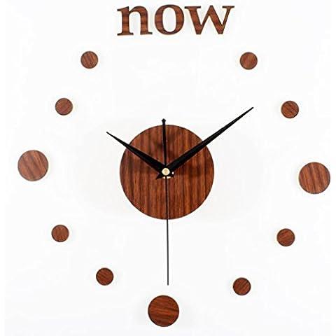 GAOHL Cuarzo madera pared reloj Retro moda DIY creatividad combinada puntero