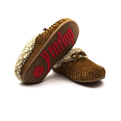 Fitflop Il Cuddler Snugmoc Pantofole Scuro Tan Dark Tan