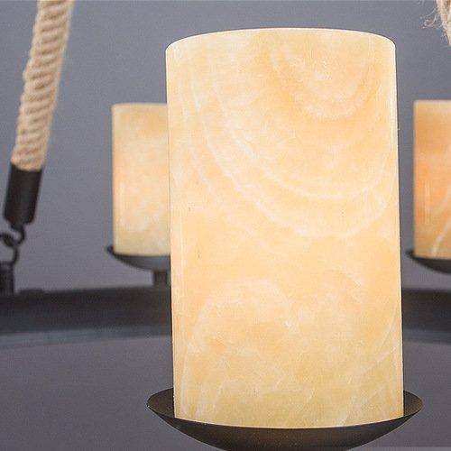 FAYM-Industrie Vintage Seil wrought Eisen Kerzen Leuchter - 2