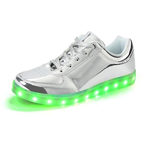 Padgene® Damen Herren LED leuchtet Turnschuhe Low Top Blinken Trainer USB Ladekabel Spitze bis Paare Schuhe -