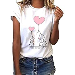 Idea Regalo - Darringls Maglietta Manica Corta Donna Estiva Elegante Camicia,T-Shirt da Donna Maglie Donna Taglie Forti T Shirt Donna Divertenti Stampata a Maniche Corte Maglietta Estiva Donna