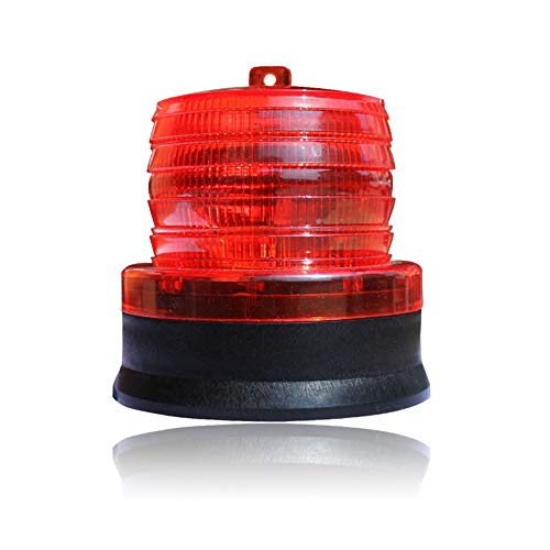 RZL LED Lights Solar-LED-Verkehrswarnlicht Straßensperre Magnet Licht Bau Signal Strobe Strobe Light (Color : Rot) -