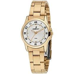 Nowley 8-5339-0-0, Reloj de mujer Pvd dorado.