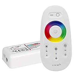 LIGHTEU®, 2.4G LED-Fernbedienung und RF-Controller für die RGBW (RGB + weiß) LED-Streifen, fut027