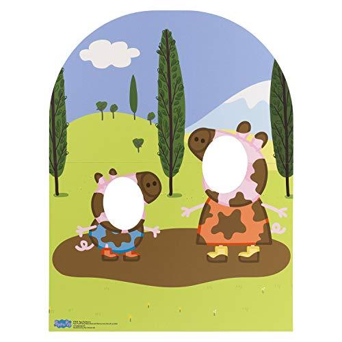 Star Cutouts SC822'Peppa Pig y George muddy Puddle niño tamaño Soporte en cartón' Cut Out