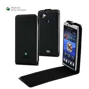Sony Ericsson - Housse et Pochette - Etui de protection extra slim a clapet - Noir - Pour Sony Ericsson Xperia Arc , Arc S