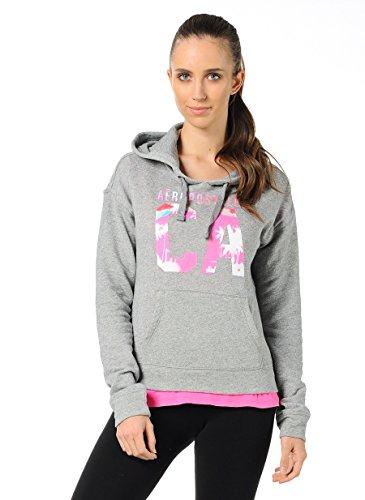 aeropostale-damen-sweater-sweatshirt-kaputzenpullover-kadin-grau-langarm-s