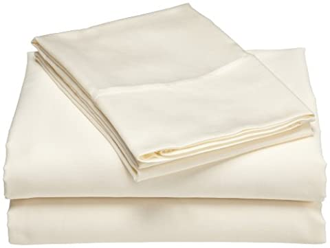 Wrinkle Resistant 300-Thread Count Cotton California King Sheet Set, Ivory