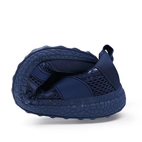QANSI Chaussures de Running Course Empeigne en mesh respirante et légère mixte adulte Bleu