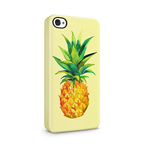 Tropical Exotic Pineapples Ananas Yellow Pattern Apple iPhone 5 , iPhone 5S , iPhone SE Snap-On Hard Plastic Protective Shell Case Cover Custodia Exotic Pineapples