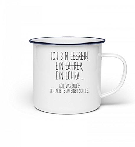 Hochwertige Emaille Tasse - Perfekt für jeden Lehrer!
