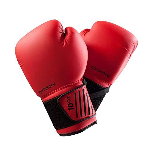 LIUBOLI Boxhandschuhe-Kinder Erwachsenenbildung Boxhandschuhe-Atmungsaktiv-Verwendet Für Erwachsene Sandsacktraining Muay Thai Fight Sanda,Red-6oz -