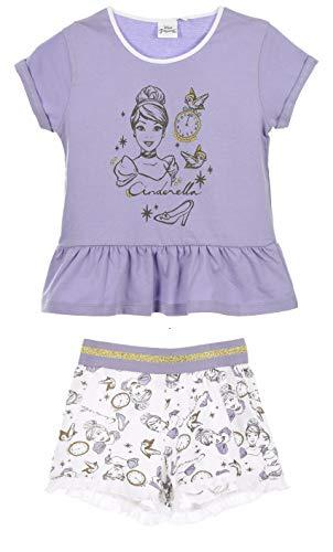 Disney Princess Mädchen Kurz Pyjama Schlafanzug