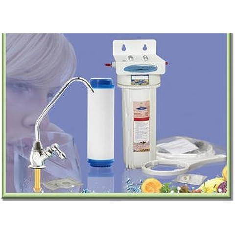 Cqe-nosotros-00303 6 tubos de filtro de agua proporciona una sola etapa de 10,000