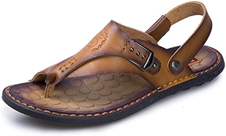 Yao Thong Flip Flops Schuhe  Casual PU Leder Strand Hausschuhe Rutschfeste Einstellbare Backless Handarbeit WeichenYao Hausschuhe Rutschfeste Einstellbare Handarbeit