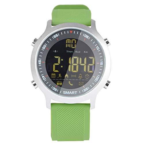 Fitness Fitness Tracker Sport Schritt Armband Smart Watch Bluetooth wasserdichte Leuchtende Uhr Anruf Informationen Wecker Erinnerung Schrittzähler (Color : Grün) (Wecker Informationen)