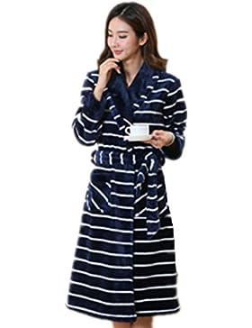 DMMSS Women 's camicia da notte lunga Flannel Pajamas autunno e inverno accappatoi corallo velluto da notte degli...