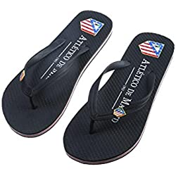Andinas Atlético Madrid - Chanclas unisex, color negro, talla 44