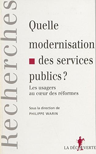 Quelle modernisation des services public...