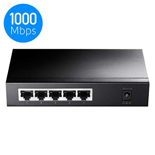 Cudy GS105 5-Port Layer2 Gigabit Switch, LAN Switch, bis zu 2000 Mbit/s Datenübertragung