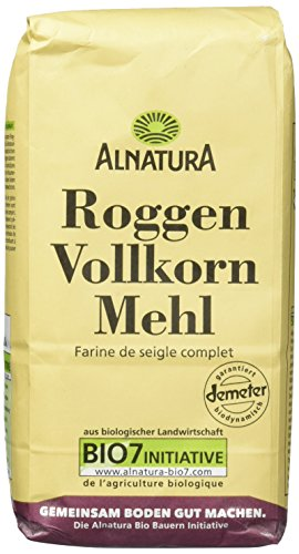 Alnatura Demeter Bio Roggenvollkornmehl, 6er Pack (6 x 1 kg)