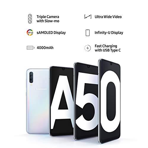 Samsung Galaxy A50 (Black, 6GB RAM, 64GB Storage) with No Cost EMI/Additional Exchange Offers