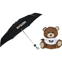 MOSCHINO - Plegable Negro negro Teddy: 25cm x 27cm x 15cm Canopy Width: 92cm