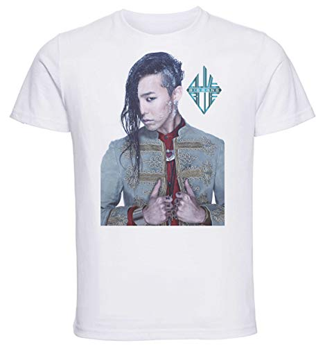 Instabuy T-Shirt Unisex - White Shirt - Kpop - Big Bang Alive G-Dragon Size Small