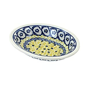 Blue Rose Polish Pottery Saffron Soap Dish