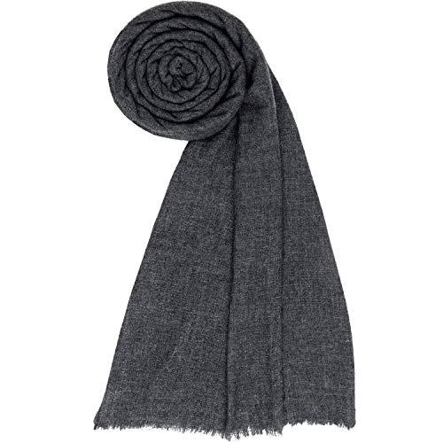 Cachemire sciarpa da donna uomini lana scialle denso coperta pashmina carbone