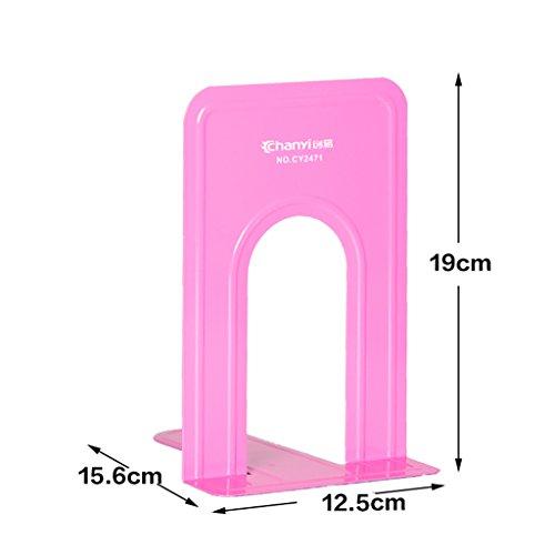 Soporte de libro del metal del color 12.5 * 15.6 * 19 Cm Efectos de escritorio de la oficina del estudiante ( Color : Pink )