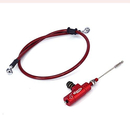Rojo universal CNC embrague hidráulico Slave cilindro tirador con 1200 mm freno radiador aceite manguera línea tubería para Honda CR125R CR250R CR500R CRF450 CRF250 Dirt Pit Bike