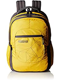 American Tourister 21 Ltrs Yellow Casual Backpack (Ebony Backpack 09)