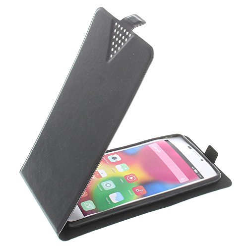 foto-kontor Tasche für Gionee Elife S5.1 Flip Style Ultra-dünn Schutz Hülle Schwarz