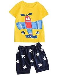 f02622c05 PAOLIAN Conjuntos para Niños Verano 2019 Camisetas Manga Corta y Pantalones  Corto Bebé Niño Recién Nacidos