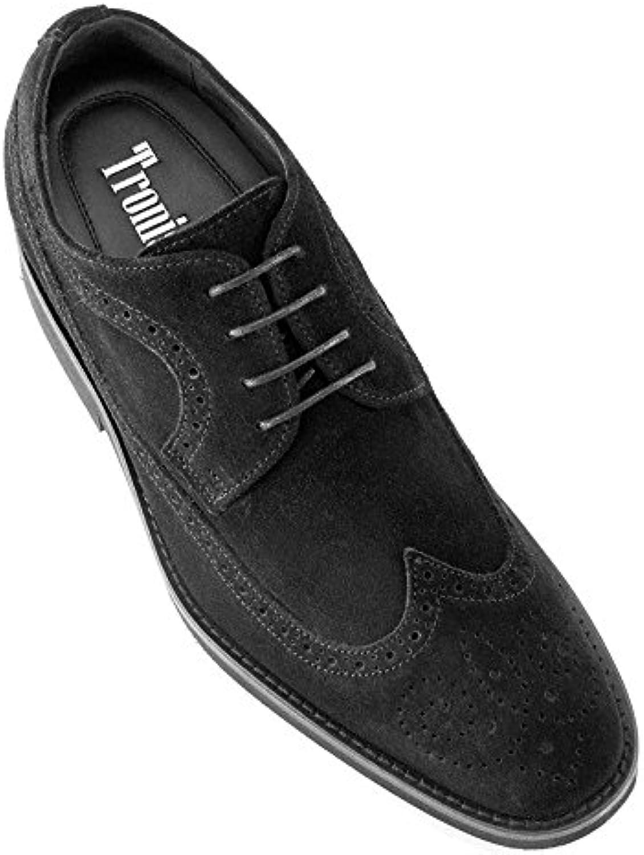 Masaltos Zapatos de Hombre con Alzas Que Aumentan Altura Hasta 7 cm. Fabricados EN Piel. Modelo Preston -