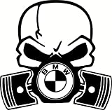Crazy Donkey UK Sticker en Vinyle Motif crâne Masque à gaz BMW Séries 1234567