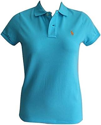 Polo Ralph Lauren para mujer camisa de manga corta ajustada para
