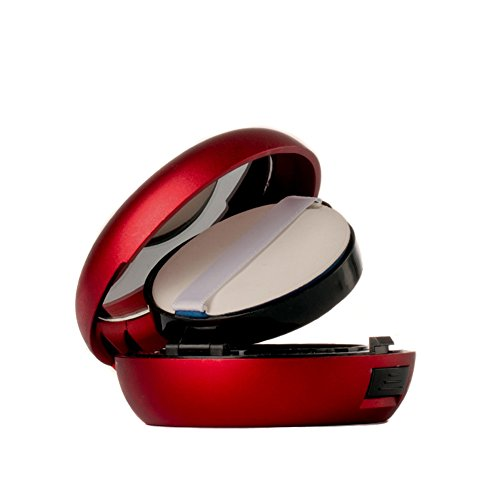 15 ml vide air portable Luxueux coussin Boîte Poudre Puff Poudre Fond de teint BB Crème Liquide Support boîte à gâteau Coiffeuse Étui DIY Boîte de maquillage étui avec Houppette éponge Coussin d'Air et miroir –-Cadeau spécial pour vous-même (Lot de 1)