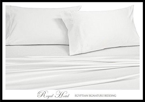 Satin-streifen-600-thread (Royal Hotel der soliden 600-thread-count Bed Sheet Set 100Prozent Baumwolle, Satin Solid, deep Pocket, baumwolle, weiß, Top-Split-CalKing)