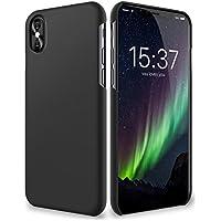 iPhone X Hülle - vau SlimShell Case - Schutzhülle, Tasche Rückseite (matt schwarz)