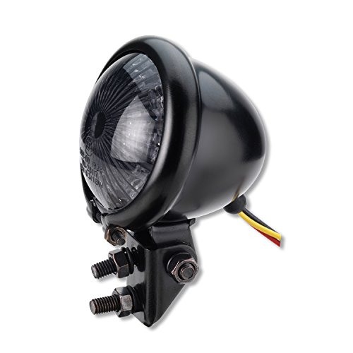 Motorrad LED Mini Rücklicht Bates Style Schwarz Smoke getönt Universal für Motorrad Quad Roller e-geprüft I Germany Motorsports