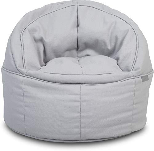 Jollein 028-576-65131 Sitzsack Beanbag Canvas grau