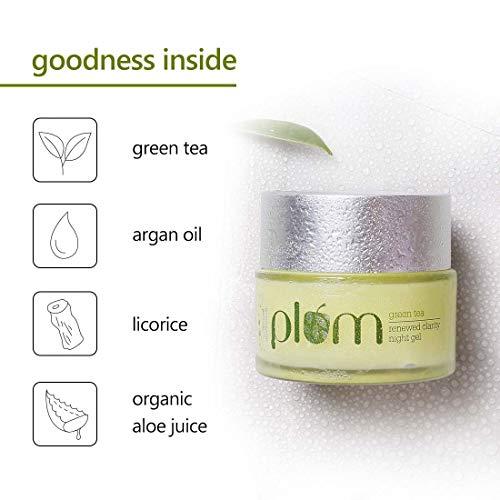 Plum Green Tea Renewed Clarity Night Gel 50ml, For Oily & Acne Prone Skin, Vegan Skin Care