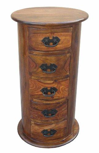 Jali Sheesham 5Schublade Drum Brust Größe: Large Thakat Wohnzimmer Möbel (Drum Schublade)