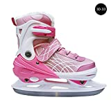 CampHiking Inlineskates Schlittschuhe Kinder Erwachsene Einsteiger Verstellbare Eishockey Klinge verdickt Studenten Speed Skating Schuhe Warm Skate, Rose, 30-33