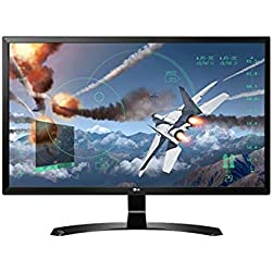 LG 24 inch Gaming 4K UHD Monitor - 4K UHD, IPS Panel with HDMI, Display, Audio Out, Heaphone Ports - 24UD58 (Black)
